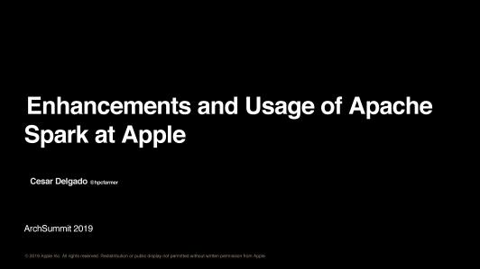 Apple Siri @ Spark, FoundationDB, Hadoop and HBase(英文演讲)
