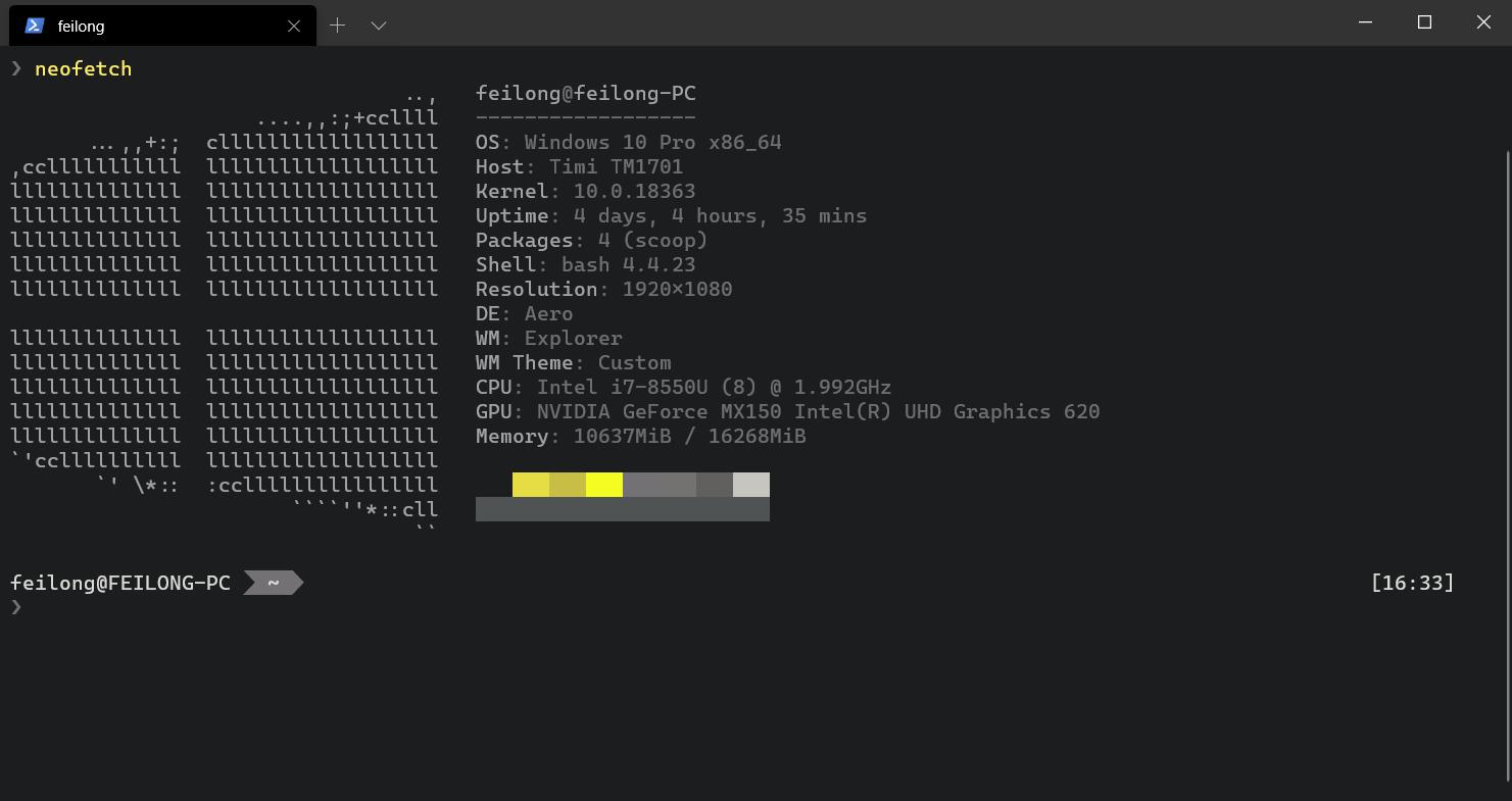 我的 Windows Terminal 配置