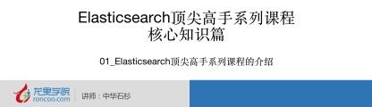 中华石衫 Elasticsearch 顶尖高手系列课程