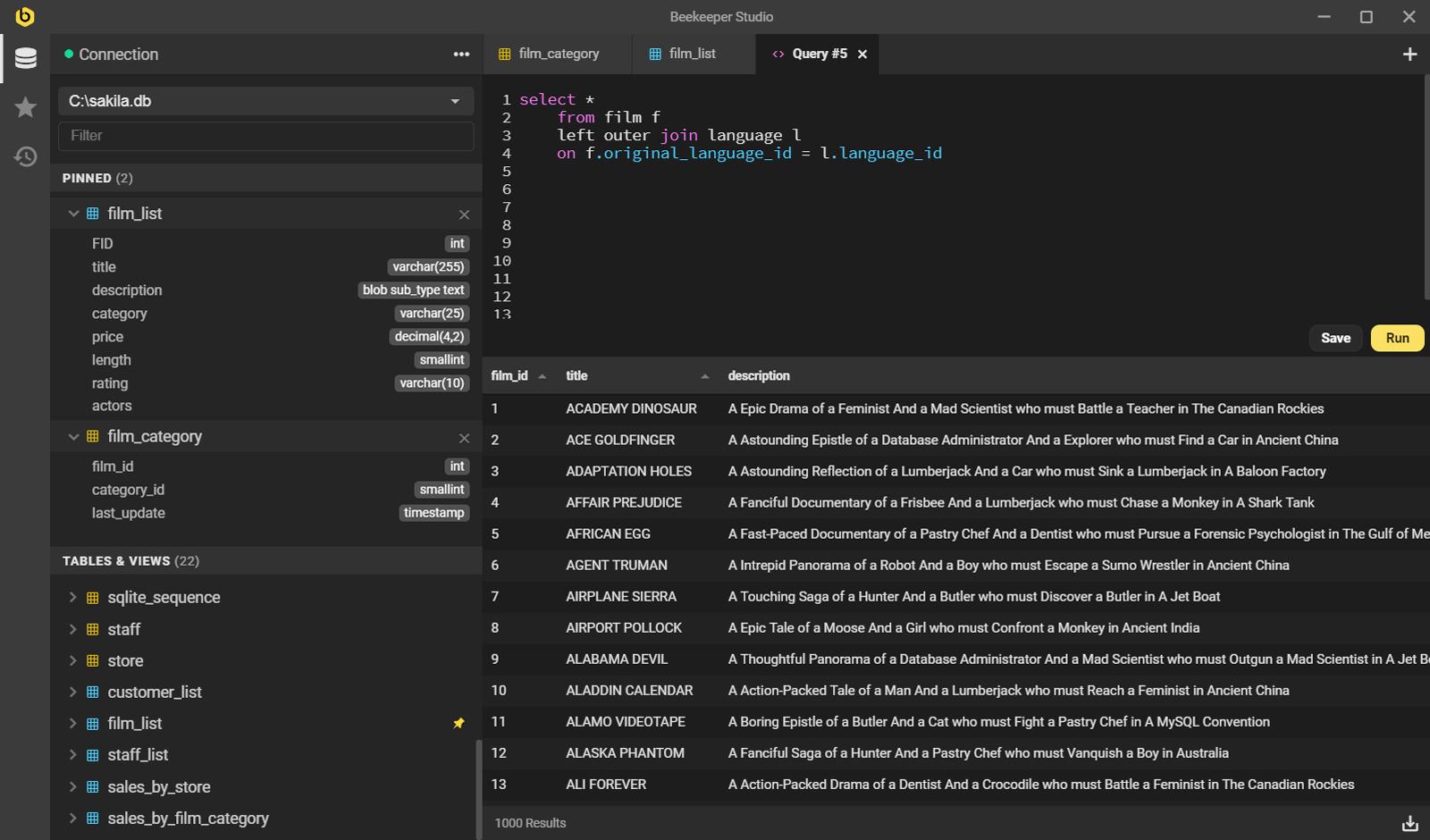 一款跨平台免费的开源 SQL 编辑器和数据库管理器!