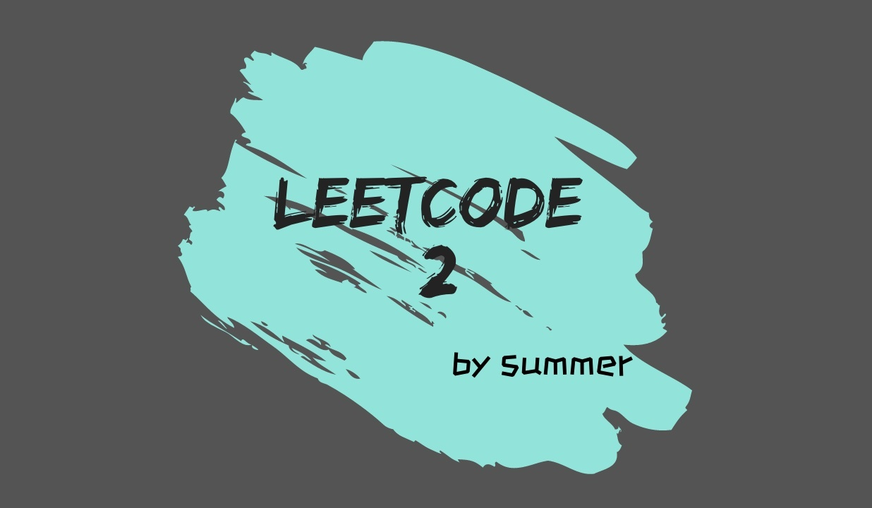 LeetCode 2. Add Two Numbers