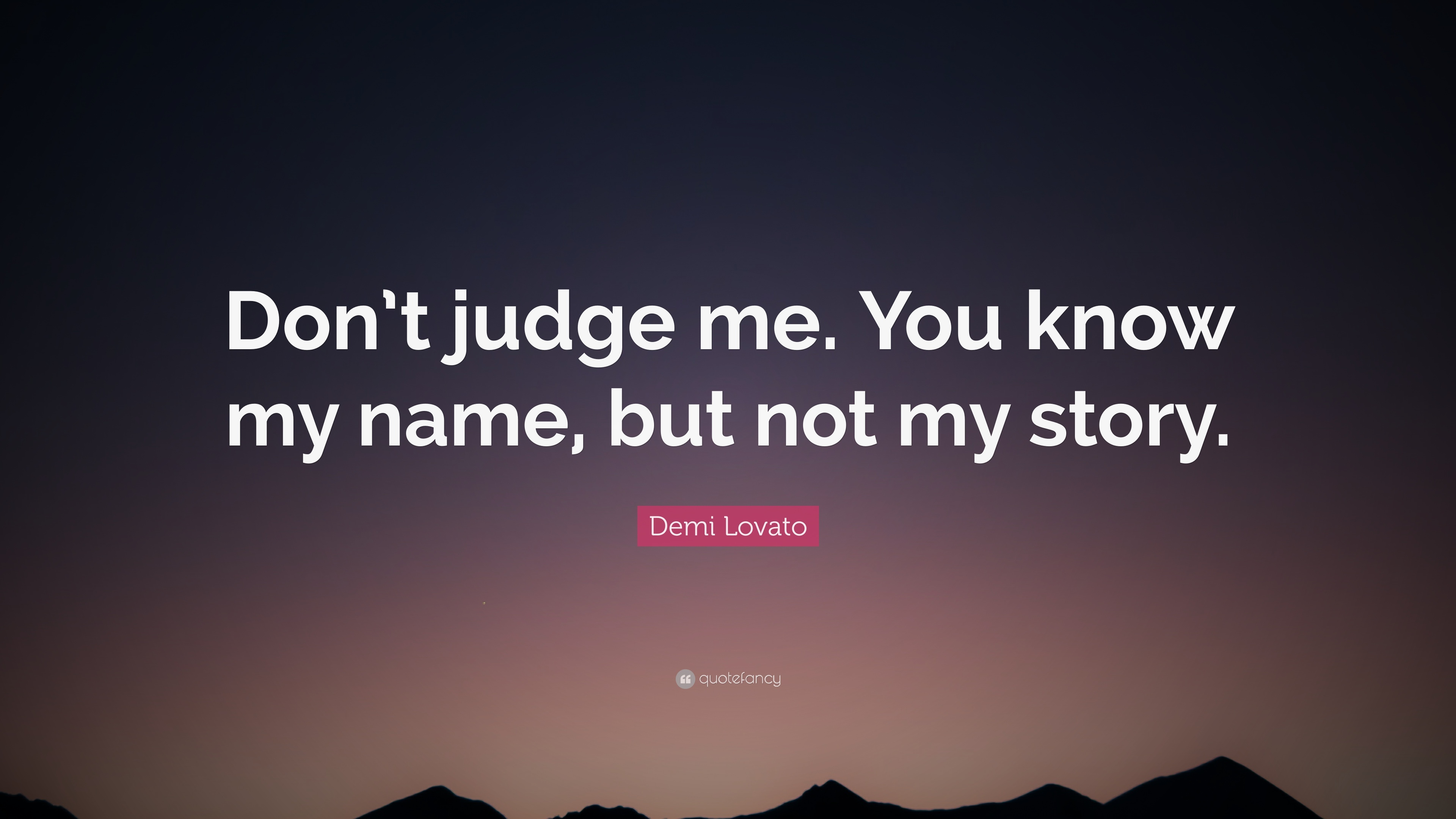 Don't judge others, Work on yourself