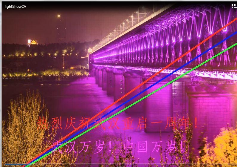 用OpenCV制作庆祝武汉重启一周年短视频