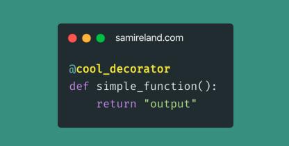 Python实现一个计时功能的装饰器