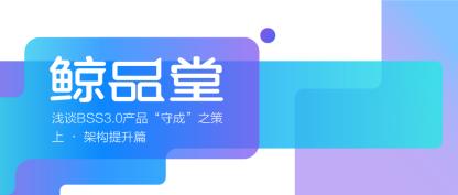 """浅谈BSS3.0产品""""守成""""之策上 • 架构提升篇"""