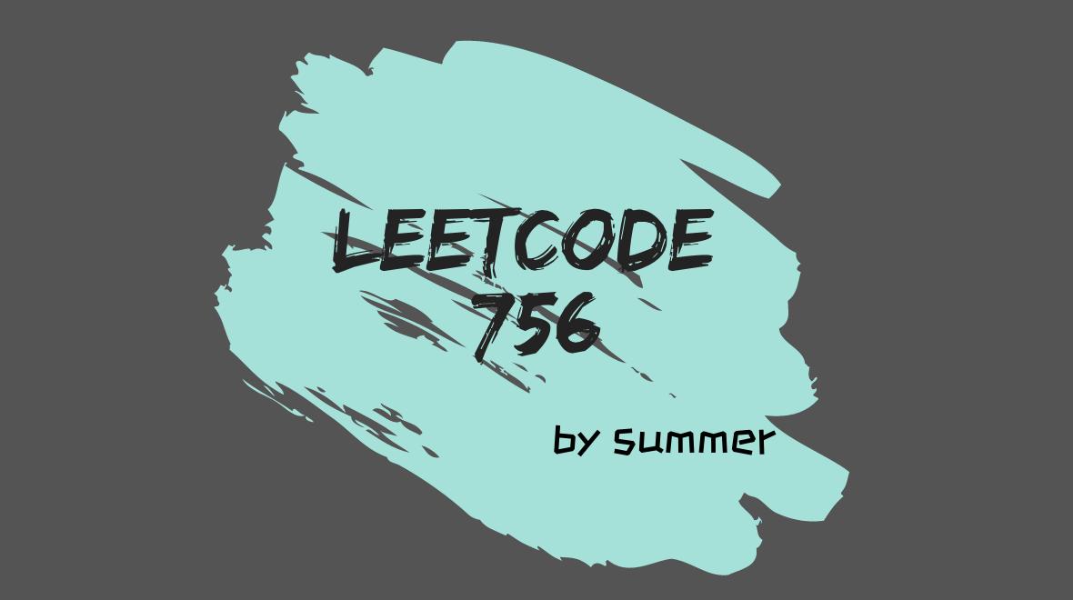 LeetCode 756. Pyramid Transition Matrix