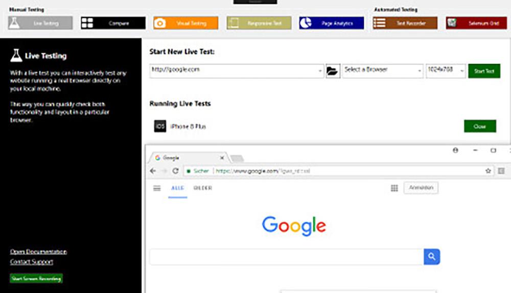 17款最好用的跨浏览器测试工具